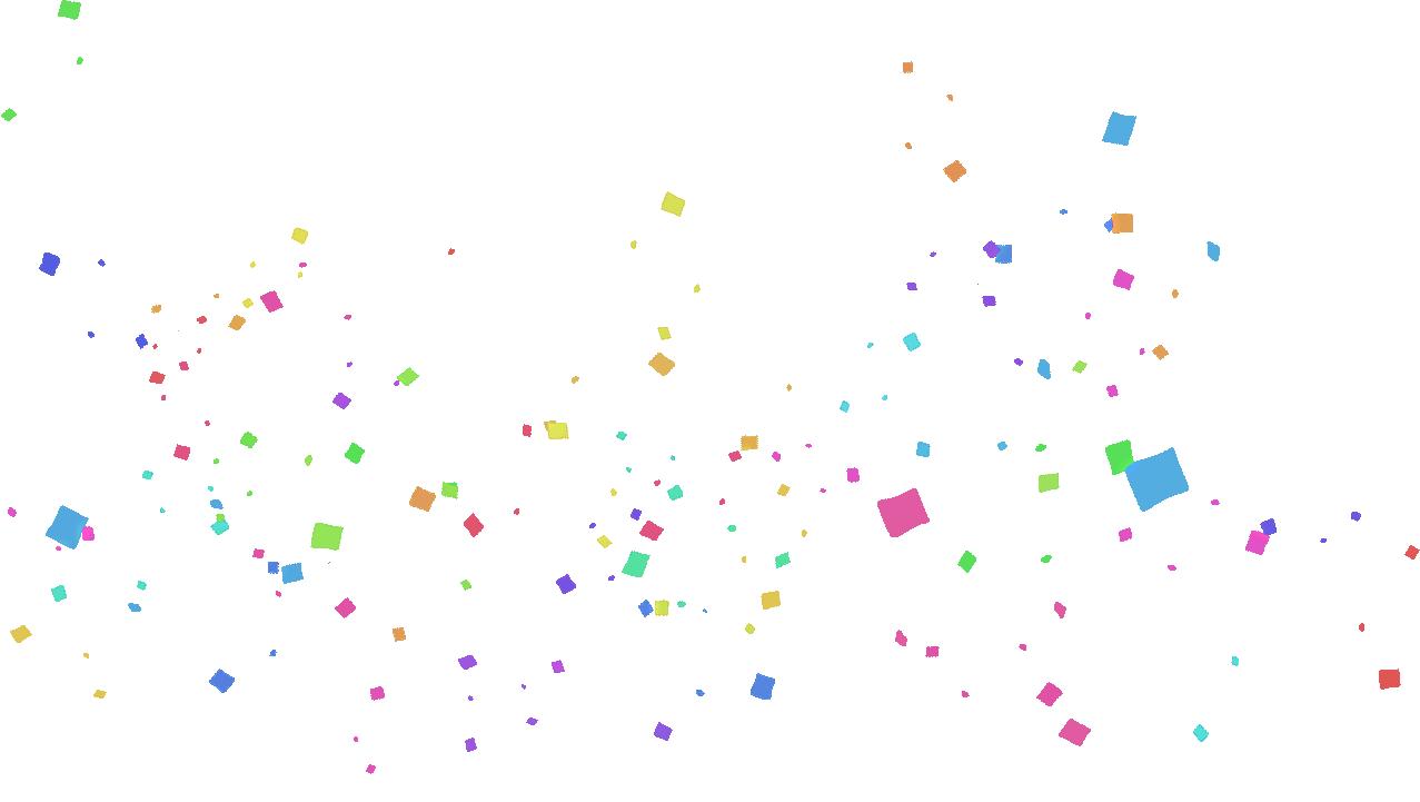 confetti clipart sparse