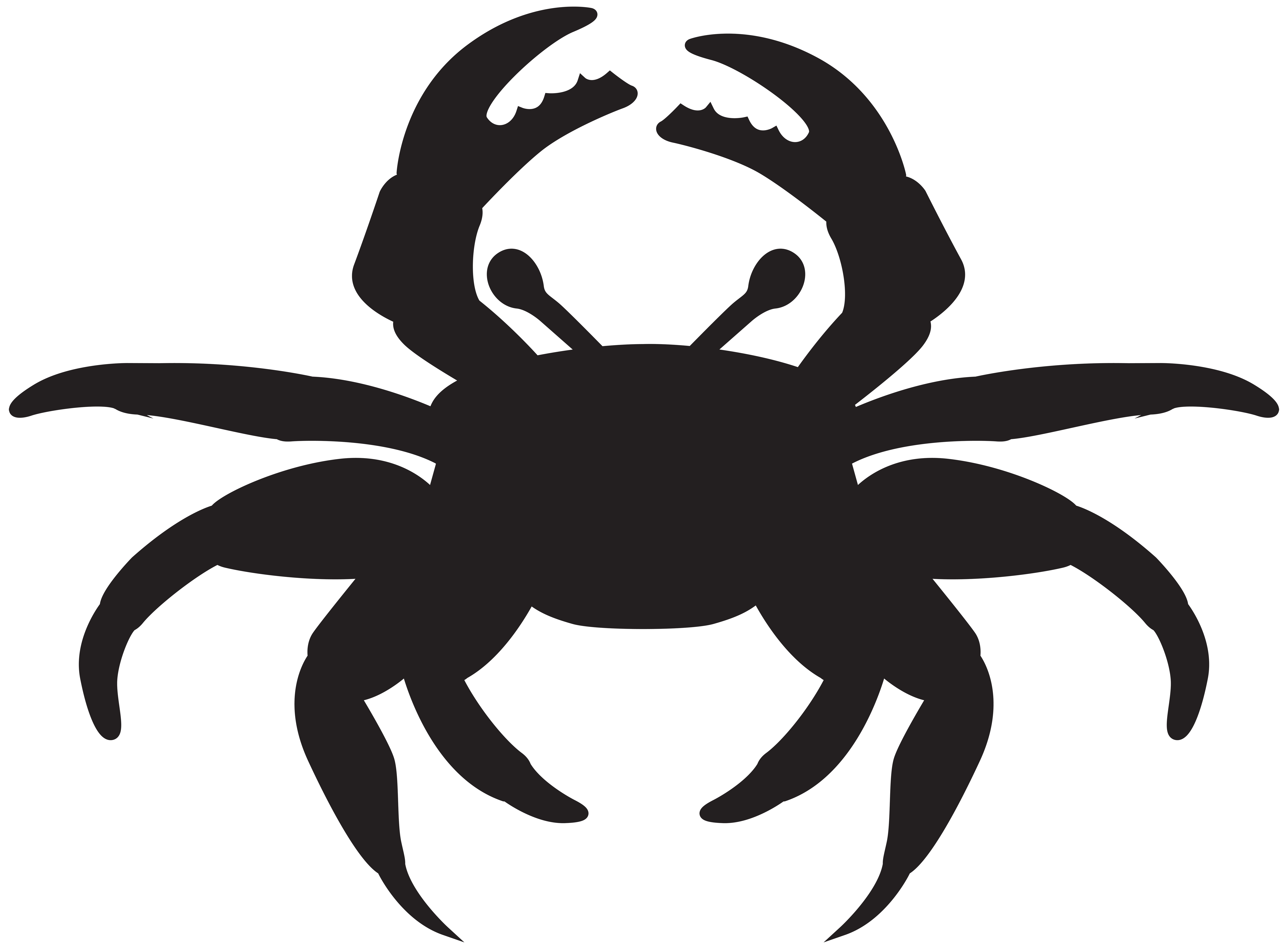 Silhouette png clip art. Crabs clipart crab claw