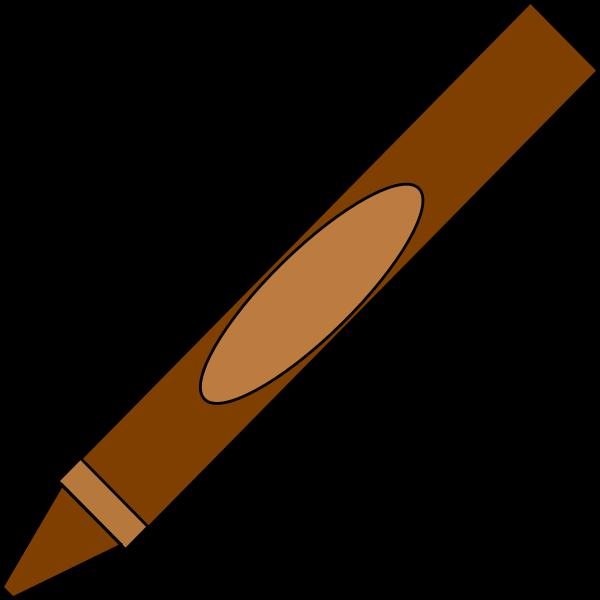 Crayons clipart svg. Brown crayon clip art
