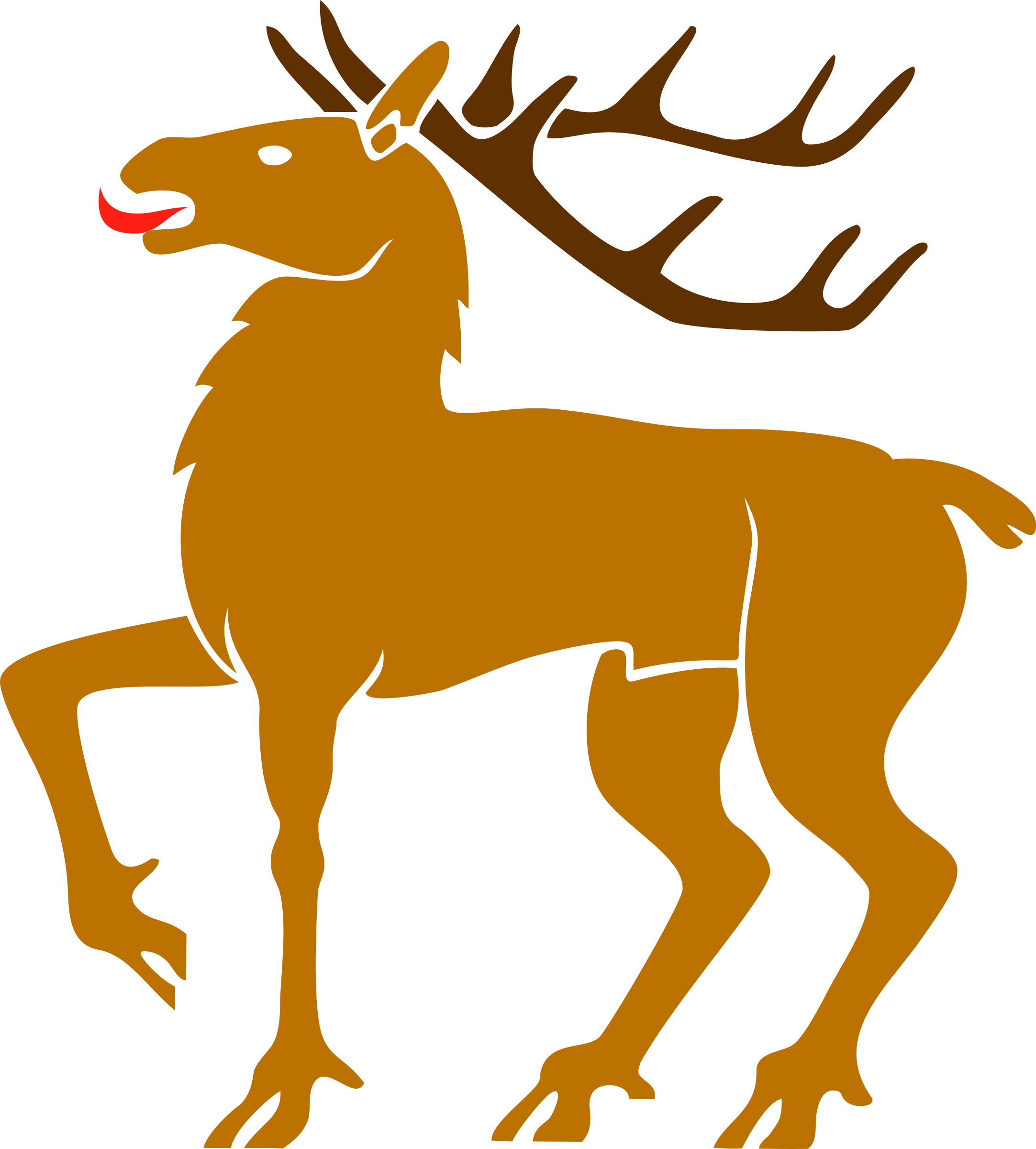 Clipart reindeer icon. Stag big image png