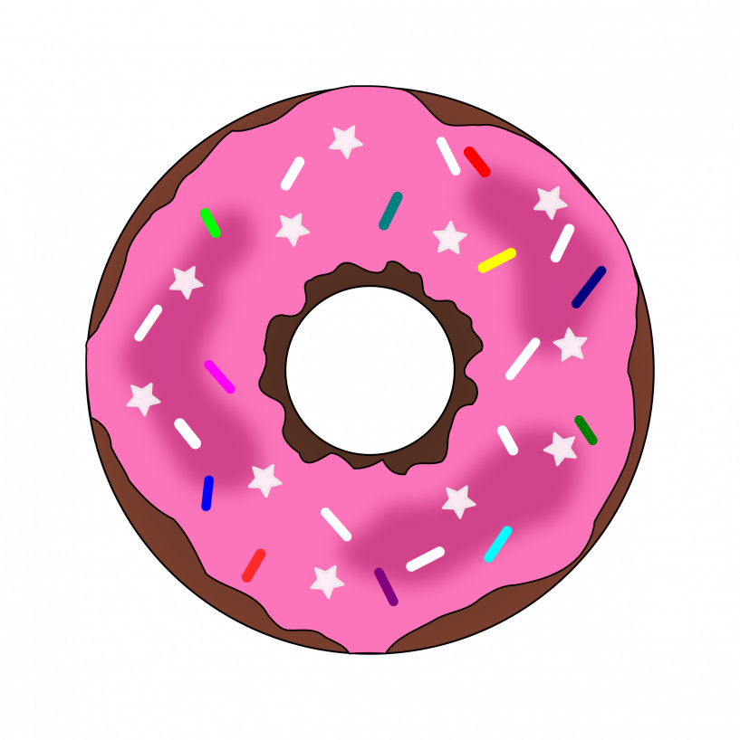 Donuts clipart frosted donut. Png jokingart com