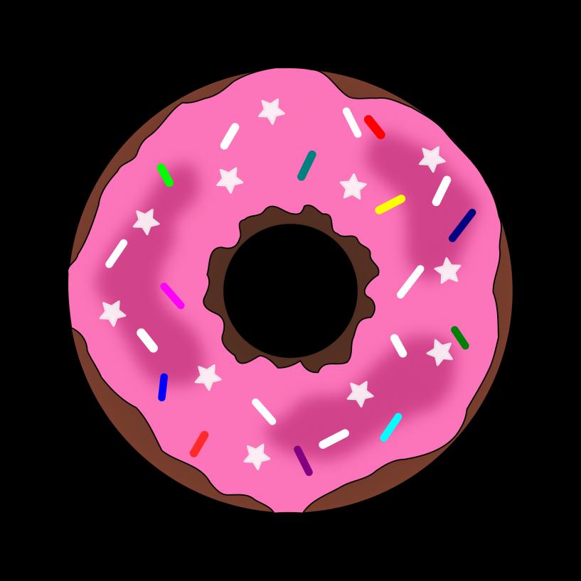 Donut png jokingart com. Doughnut clipart border