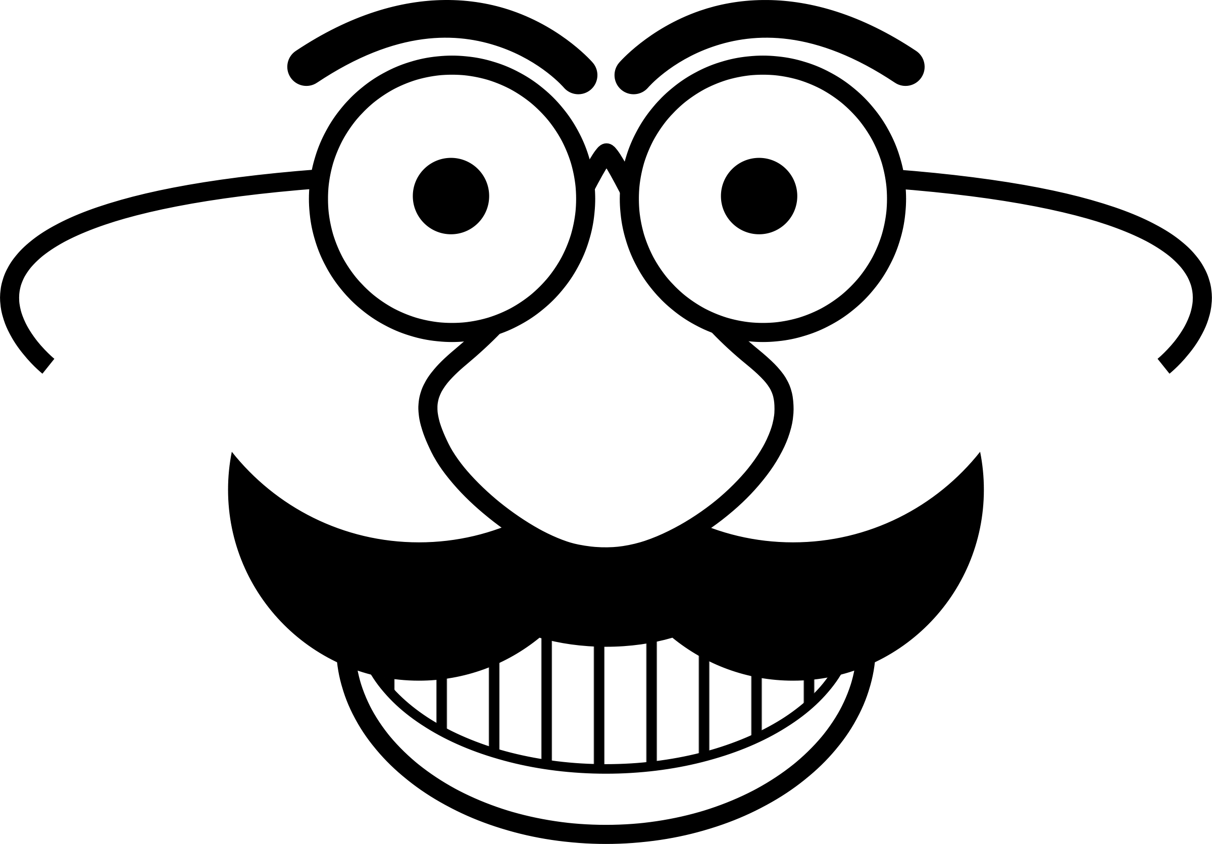 Black and white panda. Clipart png face
