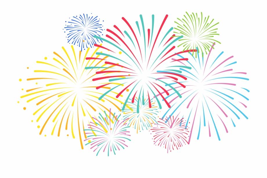 Transparent background free . Fireworks clipart fireworkds