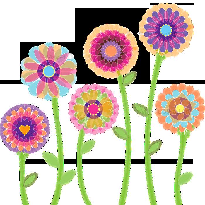 Floral clip art images. Flower png clipart