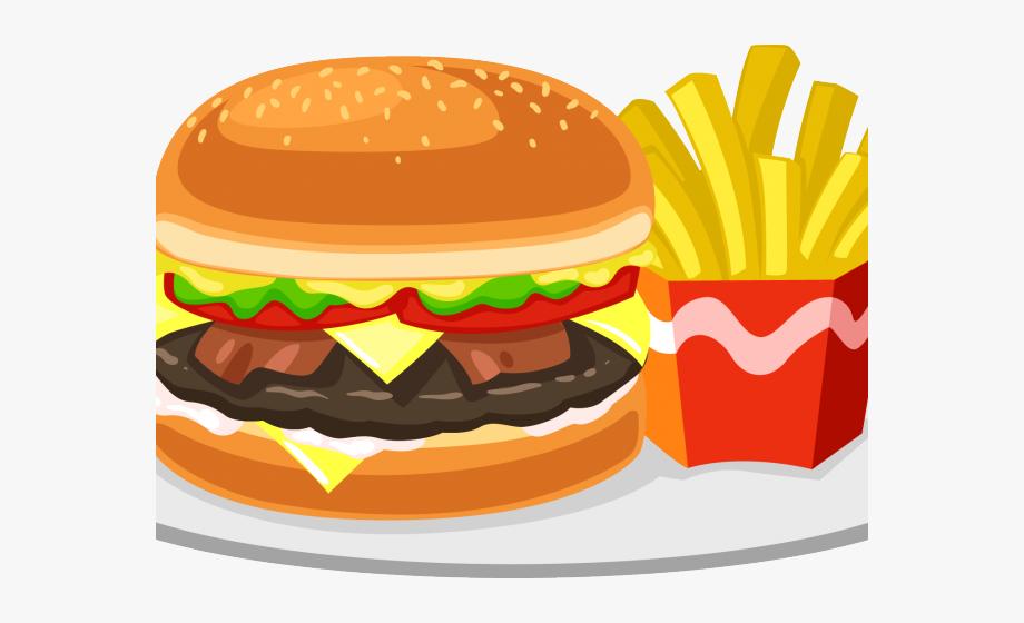 Junk unhealthy family fast. Food clipart hamburger