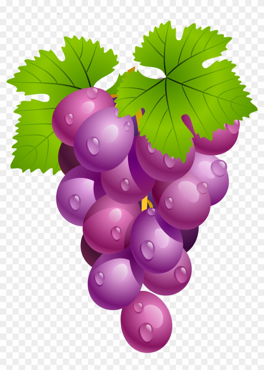 Grape clipart fruit. Grapes with leaves png