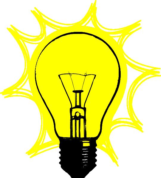Bulb lamp clip art. Electrical clipart lightning bolt