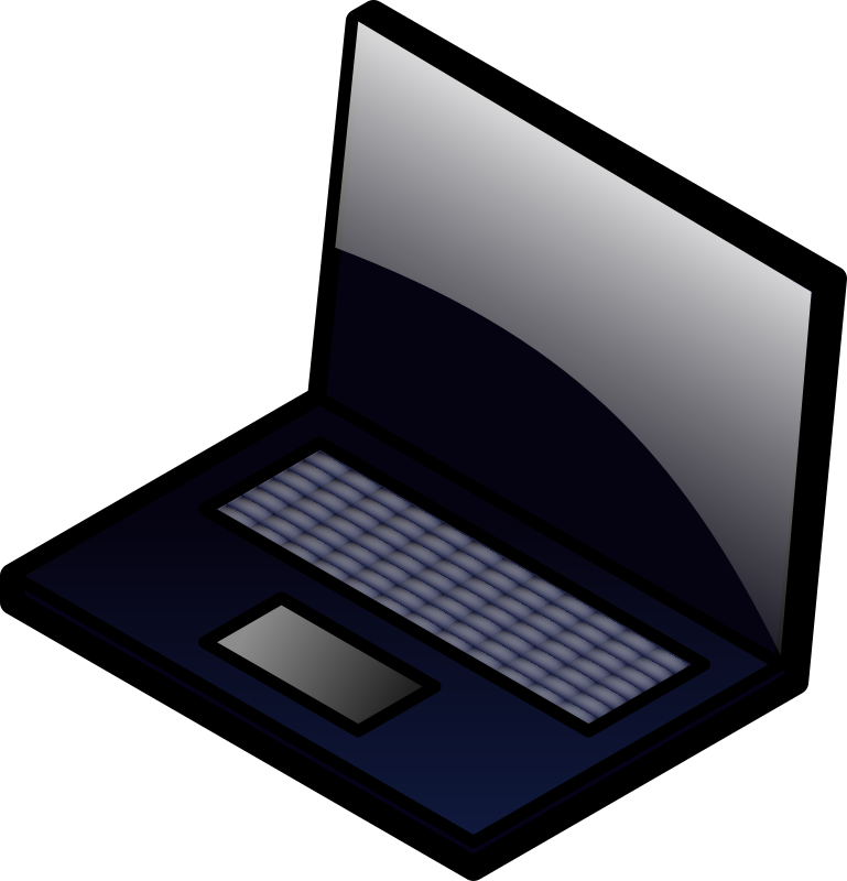 Laptop medium image png. Computer clipart transparent background