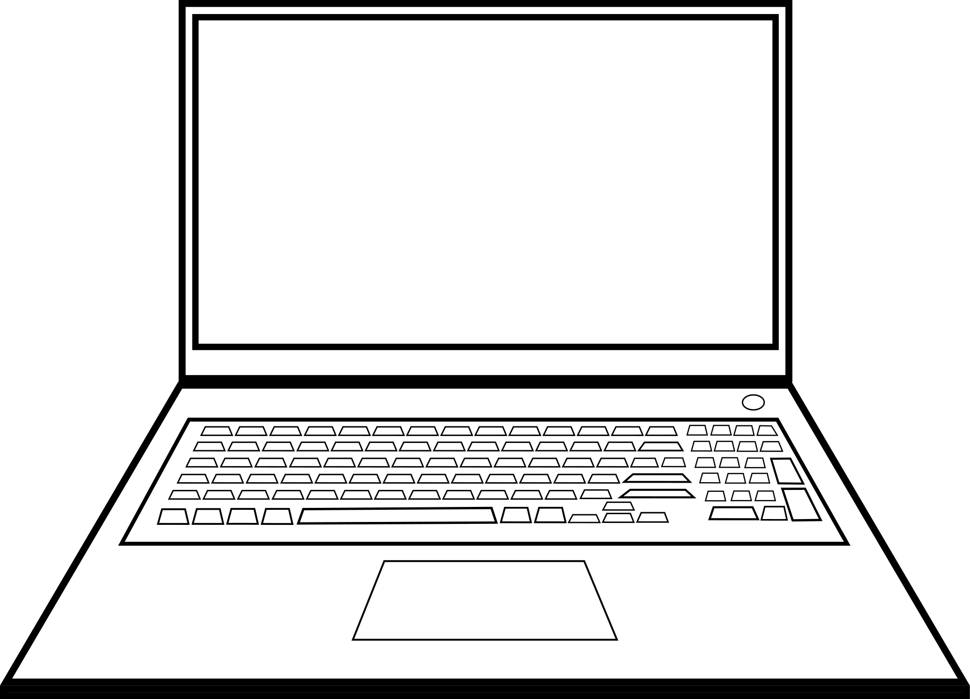 Clipart png laptop. Black and white transparent
