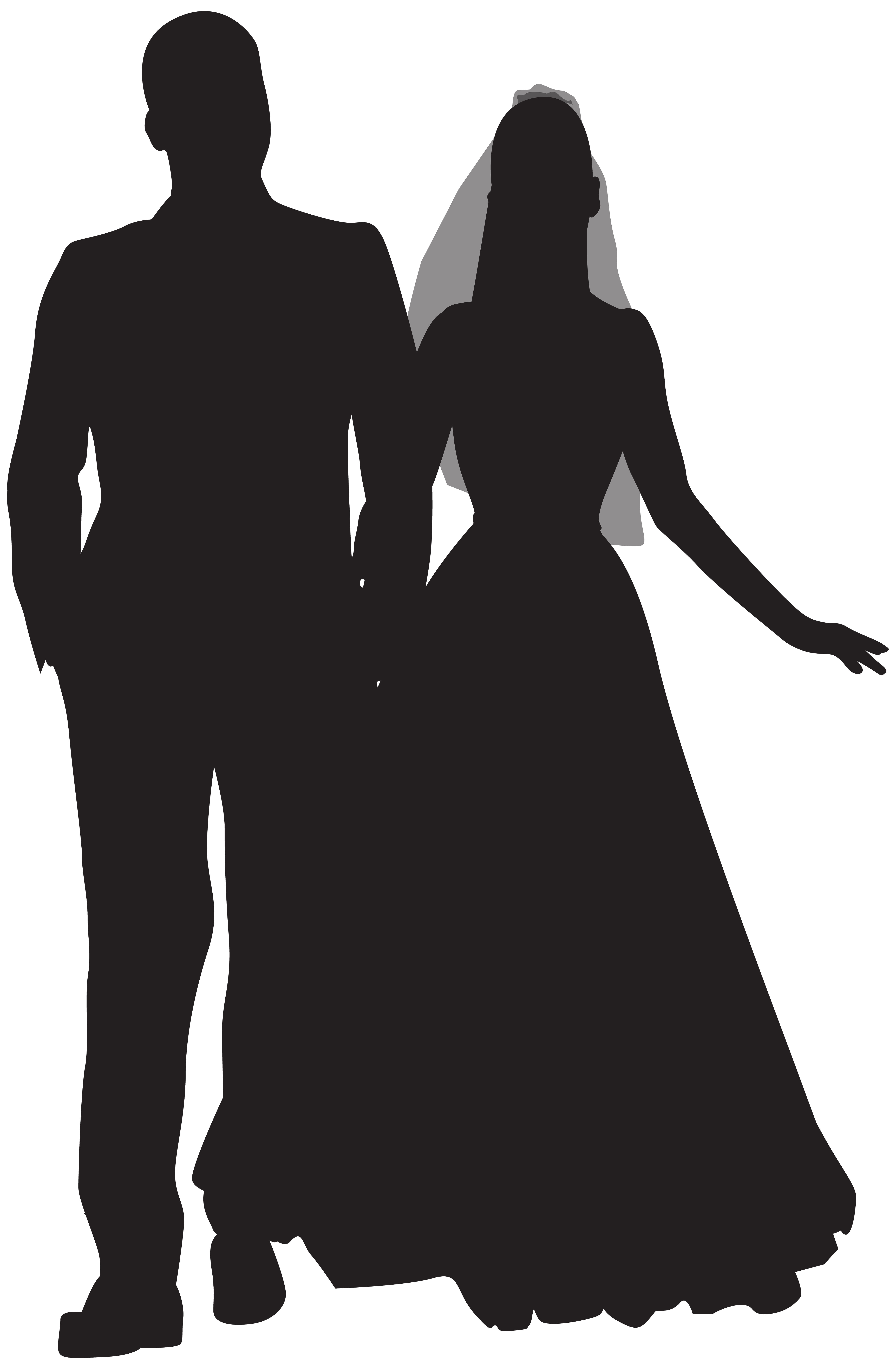 Wedding png silhouette clip. Couple clipart married couple