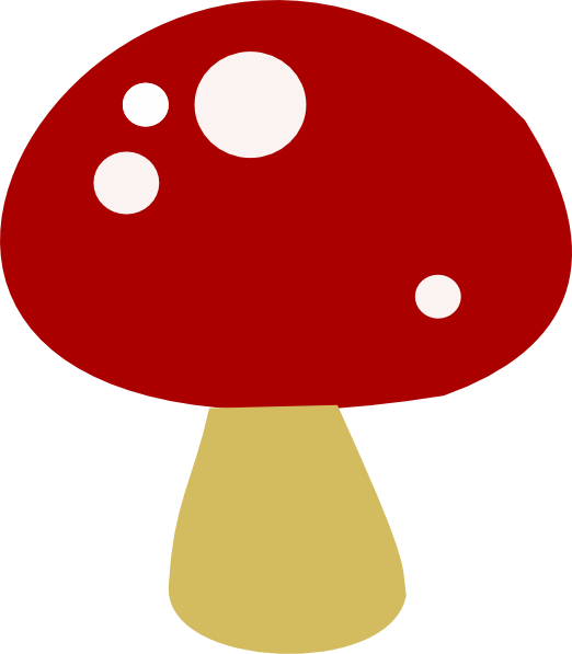 Red clip art at. Clipart png mushroom