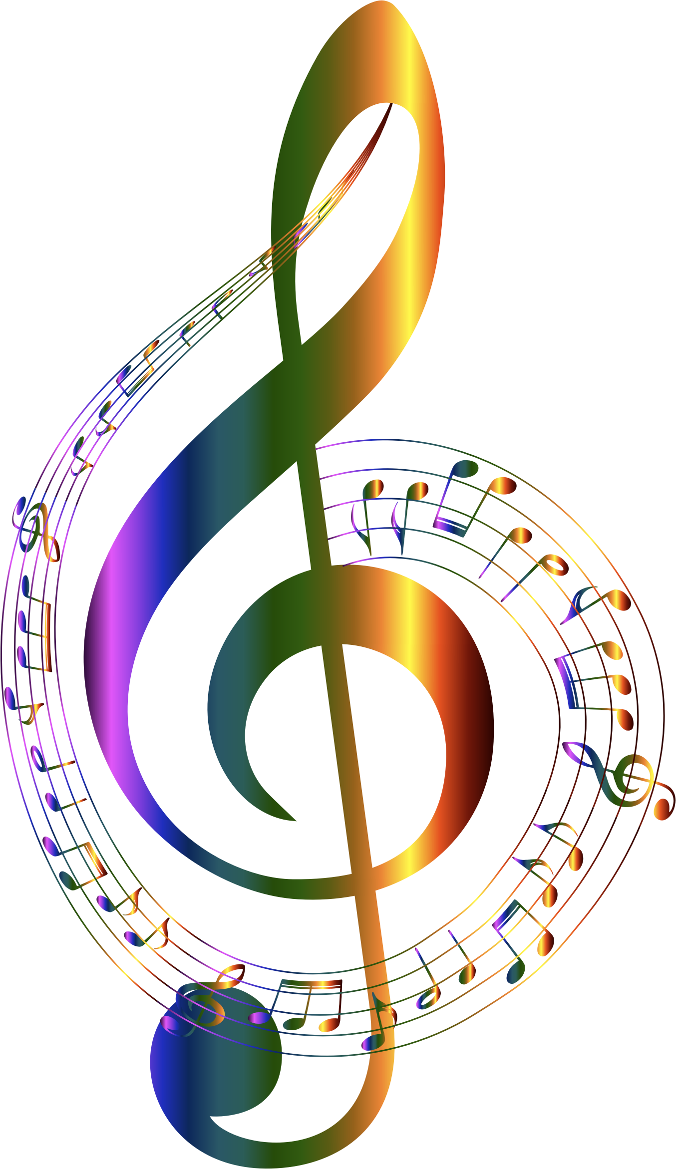Cool clipart transparent background. Chromatic musical notes typography