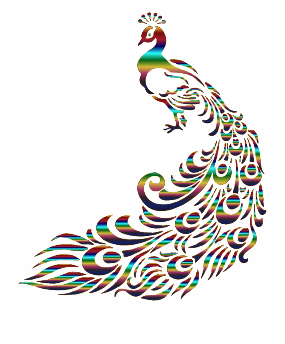 Png feather stencil transparent. Peacock clipart gold peacock