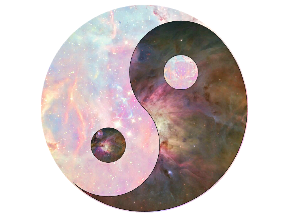 Planets clipart galaxy. Yinyang with transparent background
