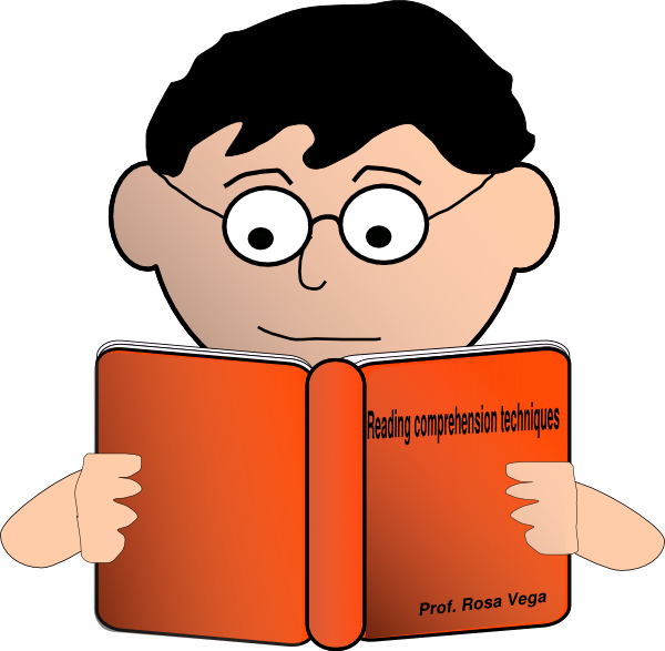 Reading comprehension cover clip. Manager clipart professional