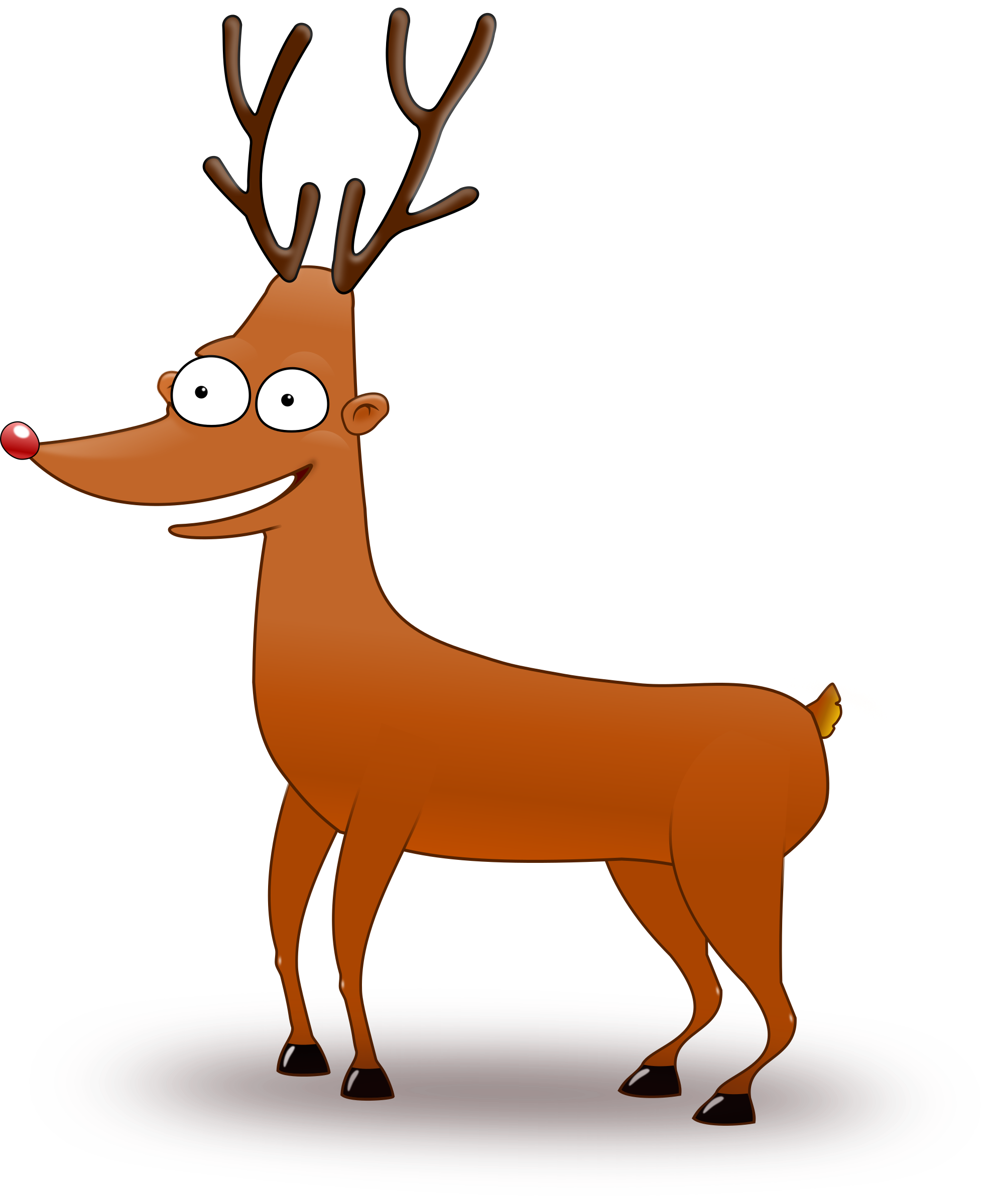 With big eyes image. Clipart reindeer reinder