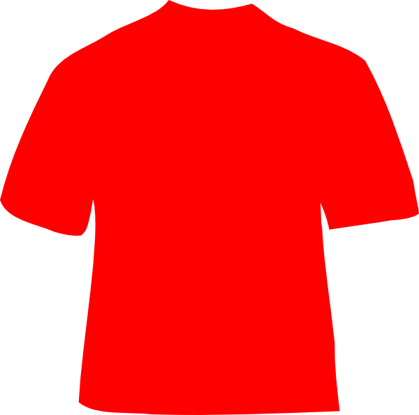 Red clip art at. Clipart shirt top