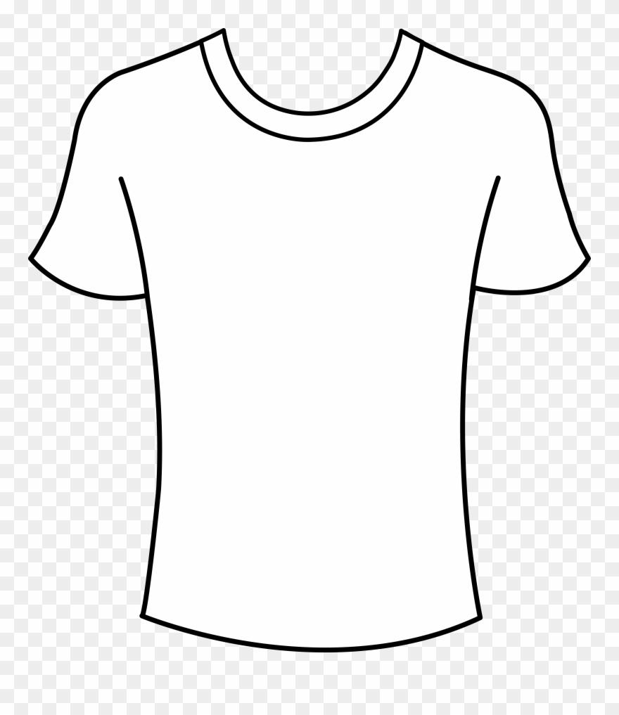 T shirt outline clip. Jersey clipart tshirt