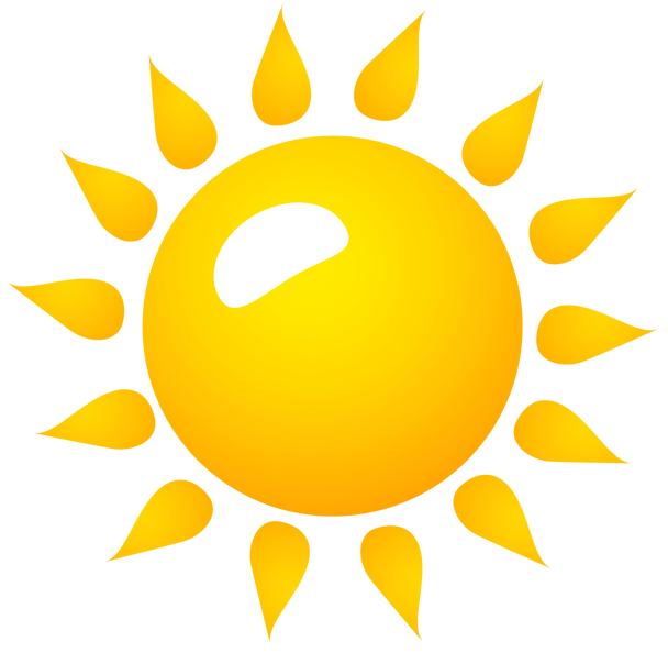 Sun transparent background