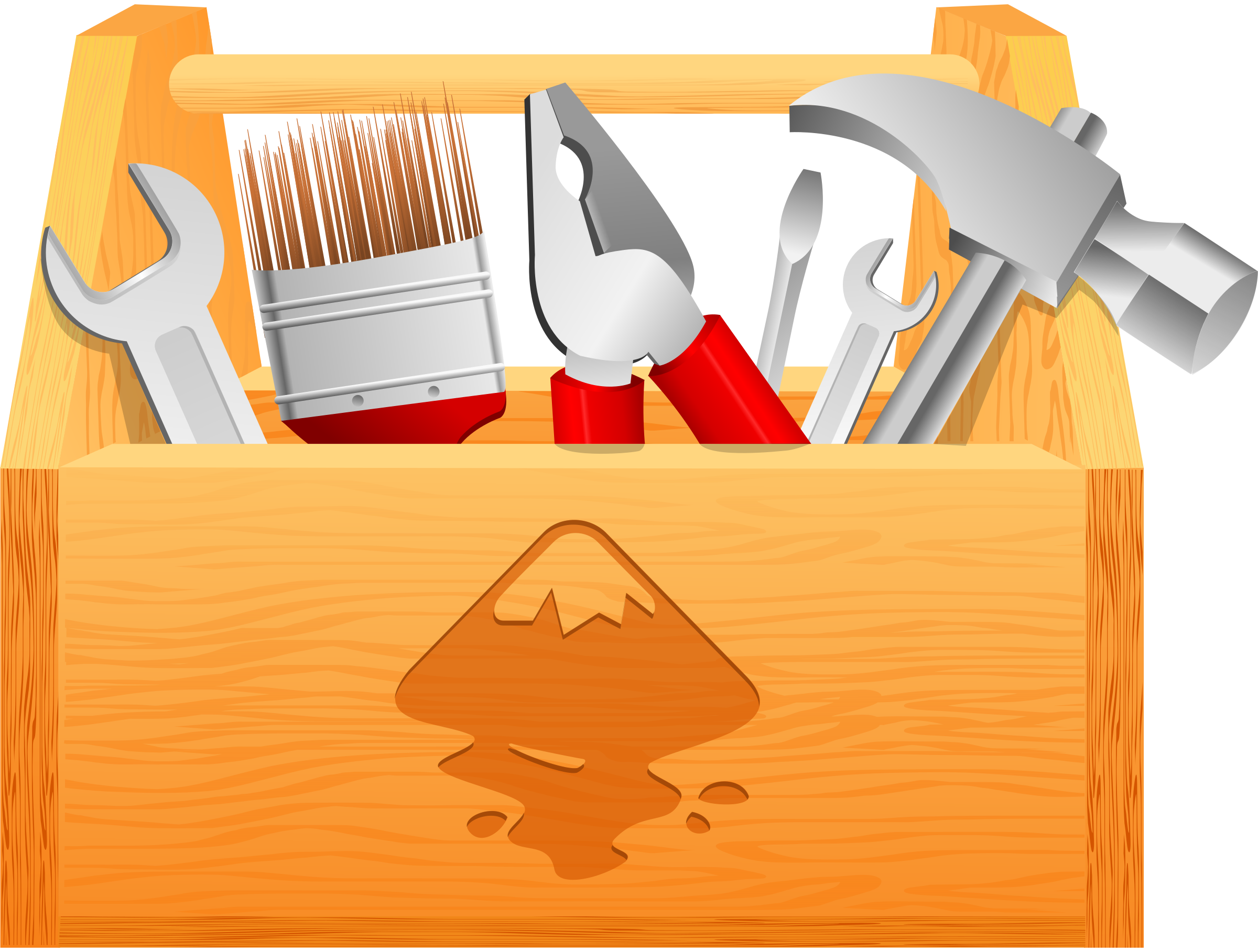 Toolbox big image png. Clipart hammer h be for