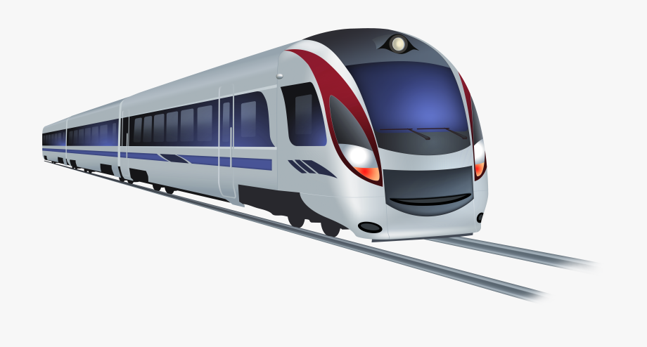 Clipart train modern. Png clip art transparent