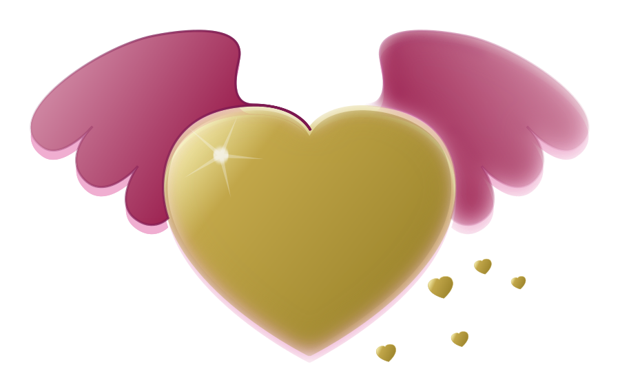 Wing clipart vector. Free heart art download