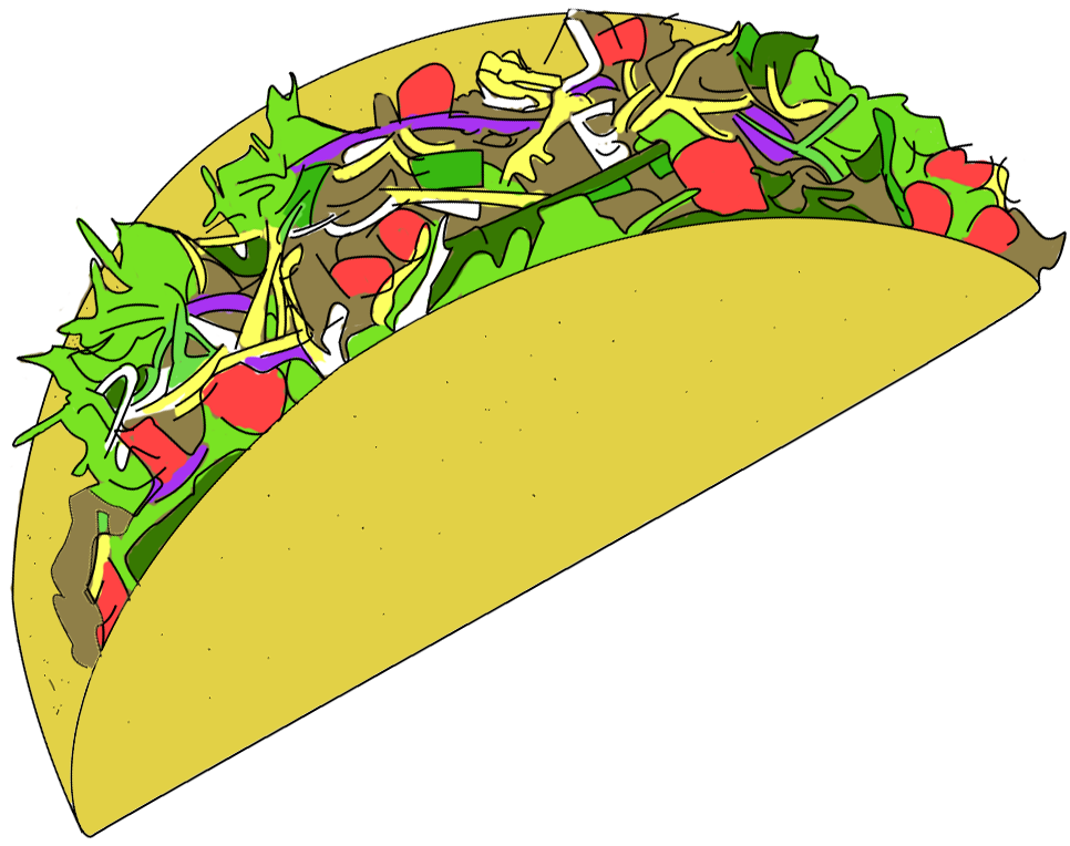 Taco vector pencil and. Lady clipart potluck