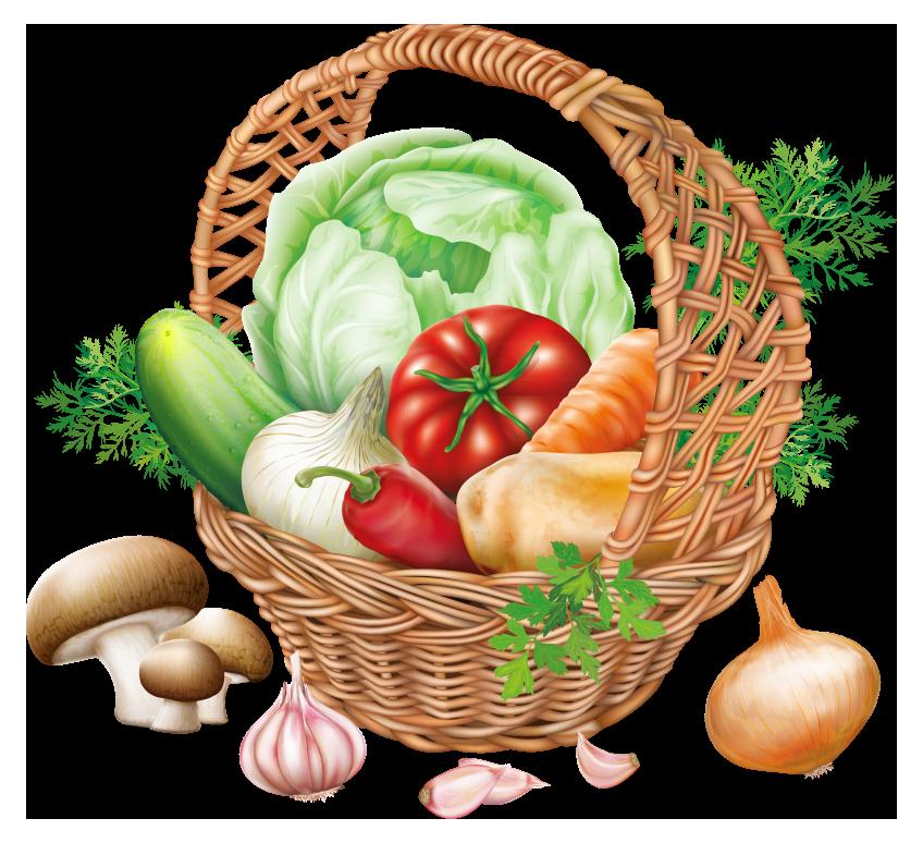 Basket with vegetables png. Fruit clipart fresh fruit