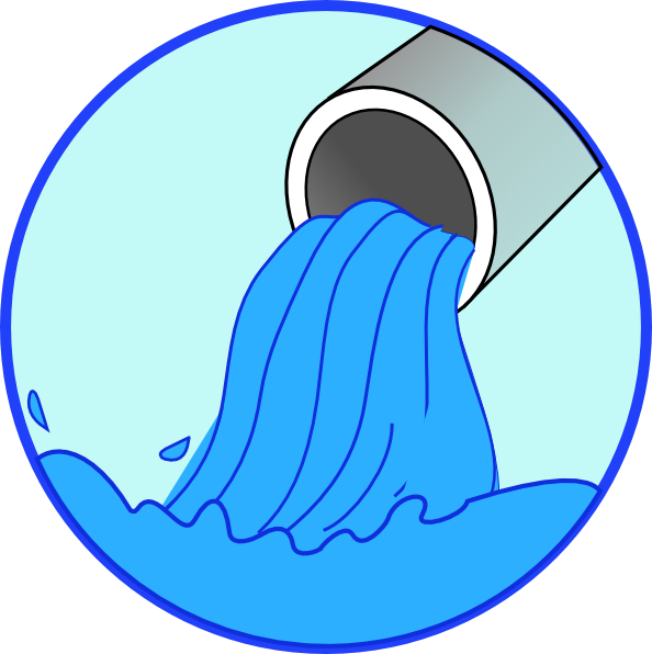 Pouring clip art at. Water clipart polluted