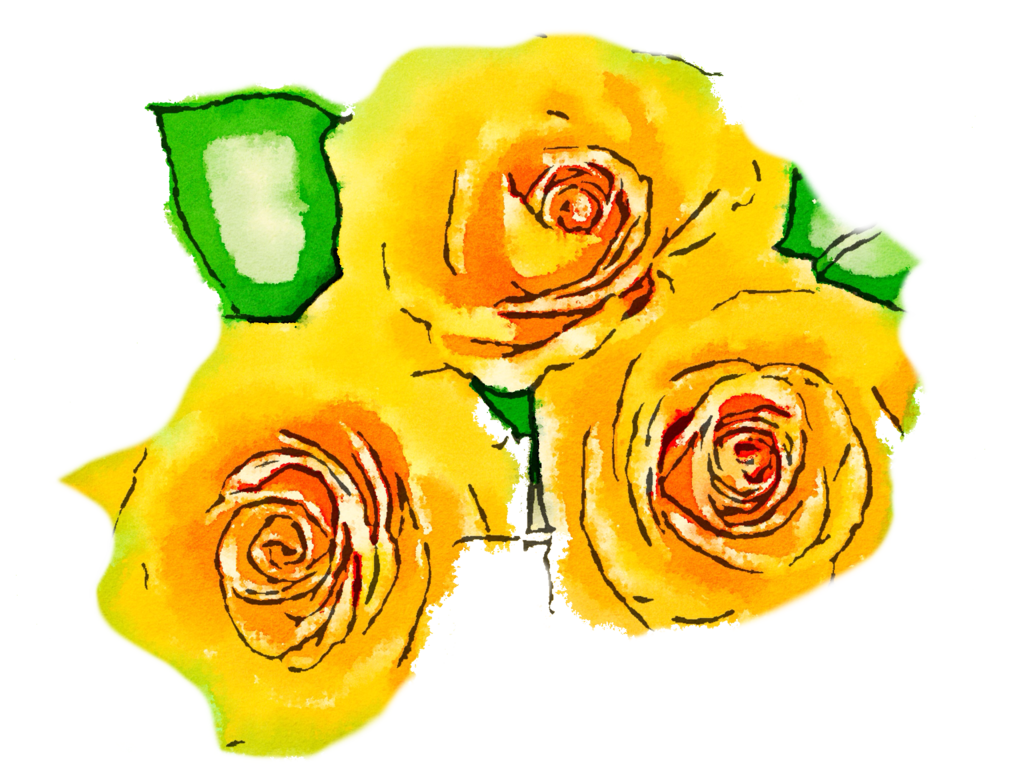 Water color flower png. Free yellow flowers usefreely