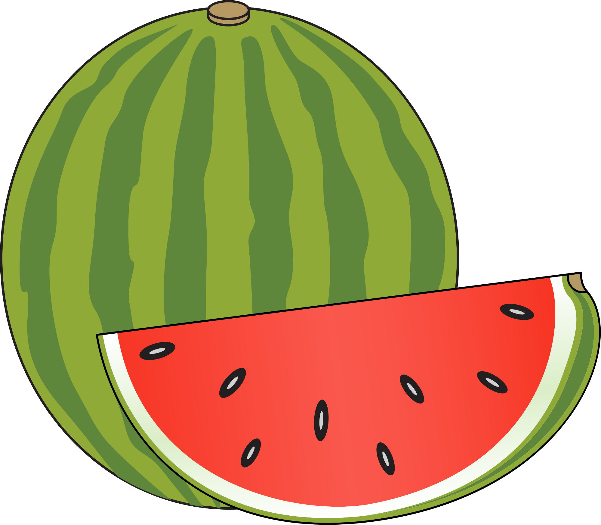 Watermelon clipart small watermelon. Big image png