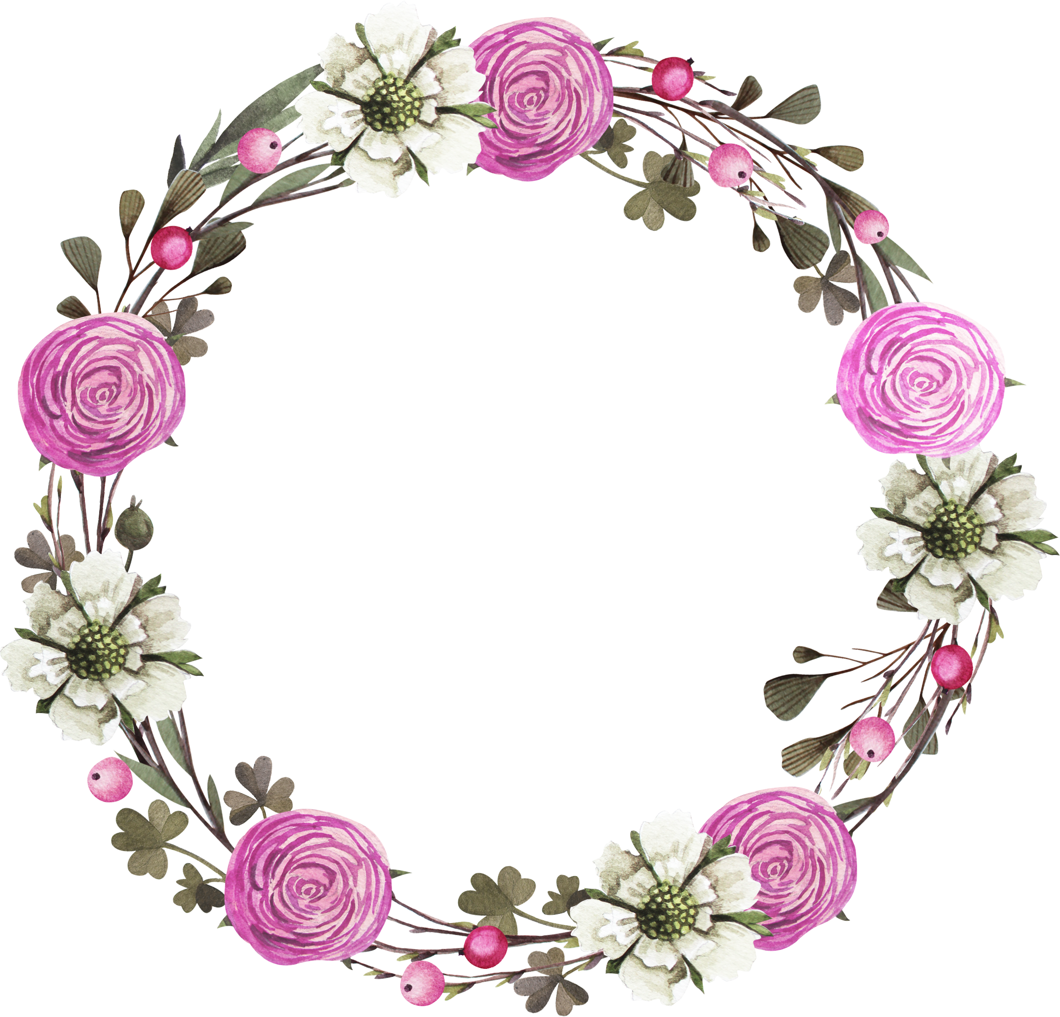 Clipart rose frame. Floral design wreath clip