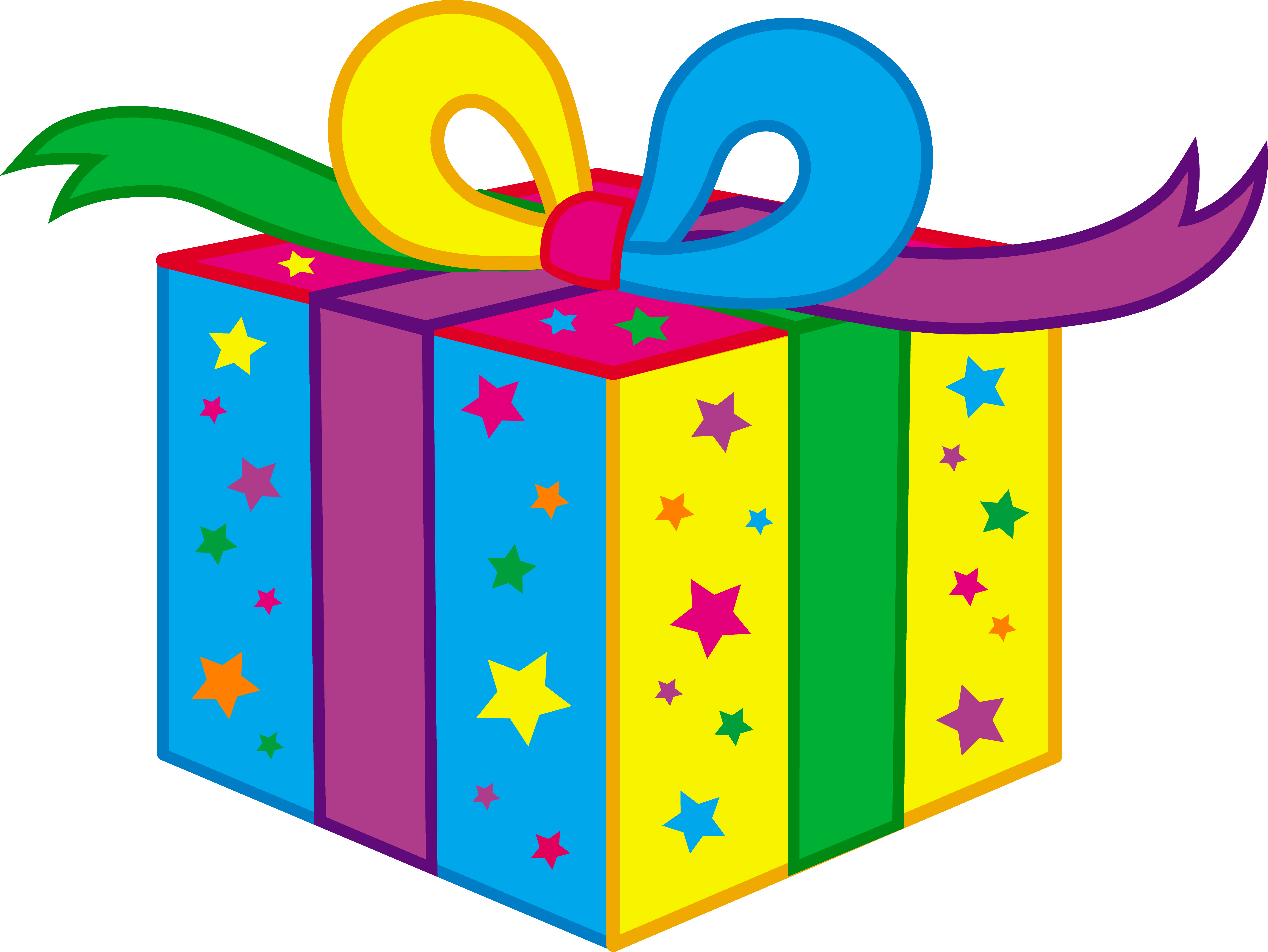 Excited clipart surprise gift. Birthday present clip art