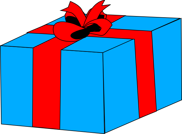 Christmas present panda free. Gift clipart