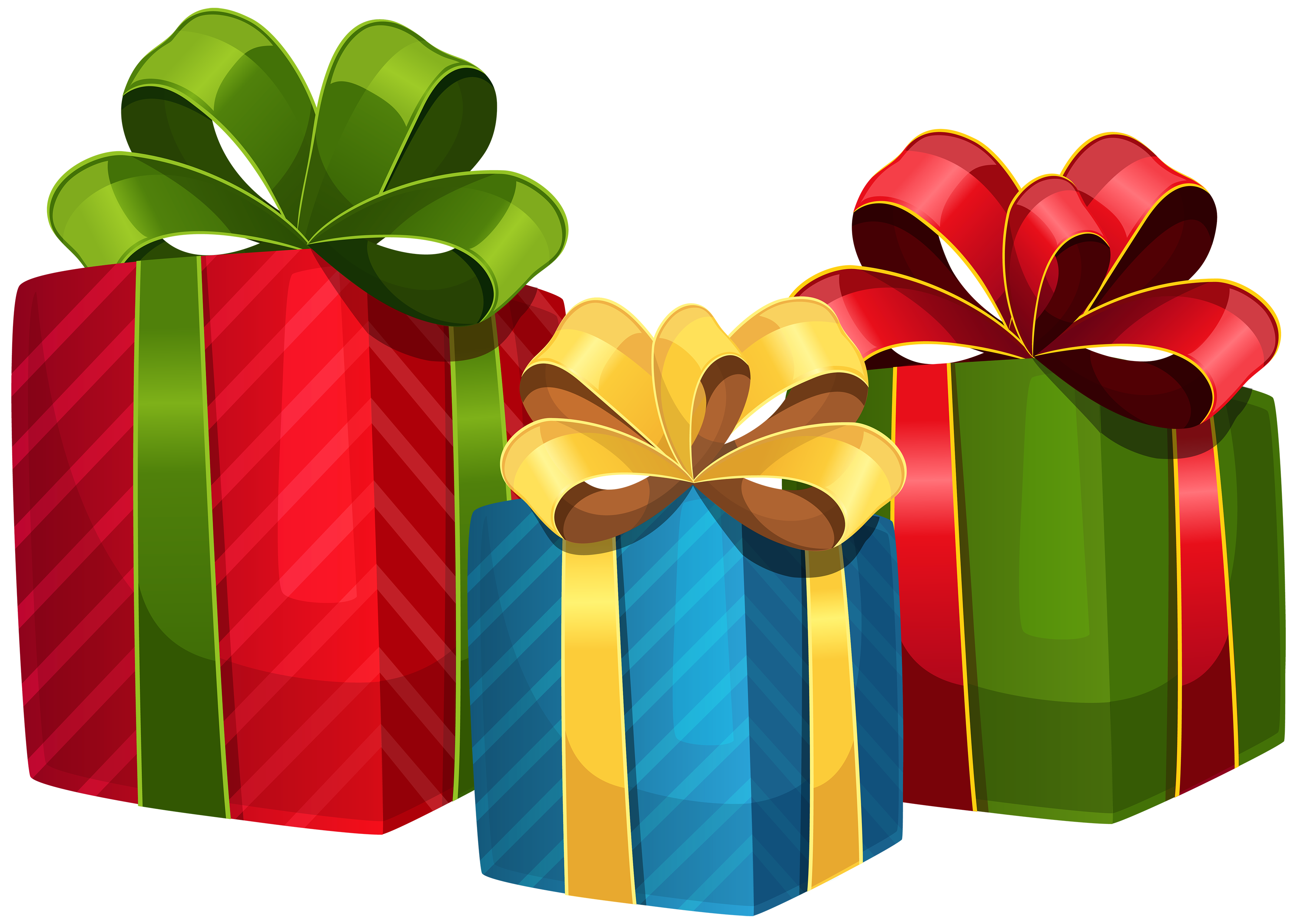 Christmas clip art png. Clipart present 3 gift