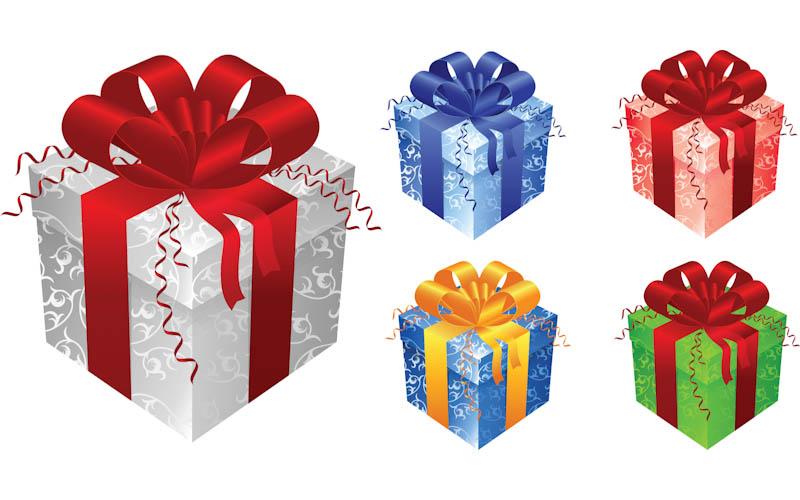 Birthday box clip art. Clipart present 3 gift