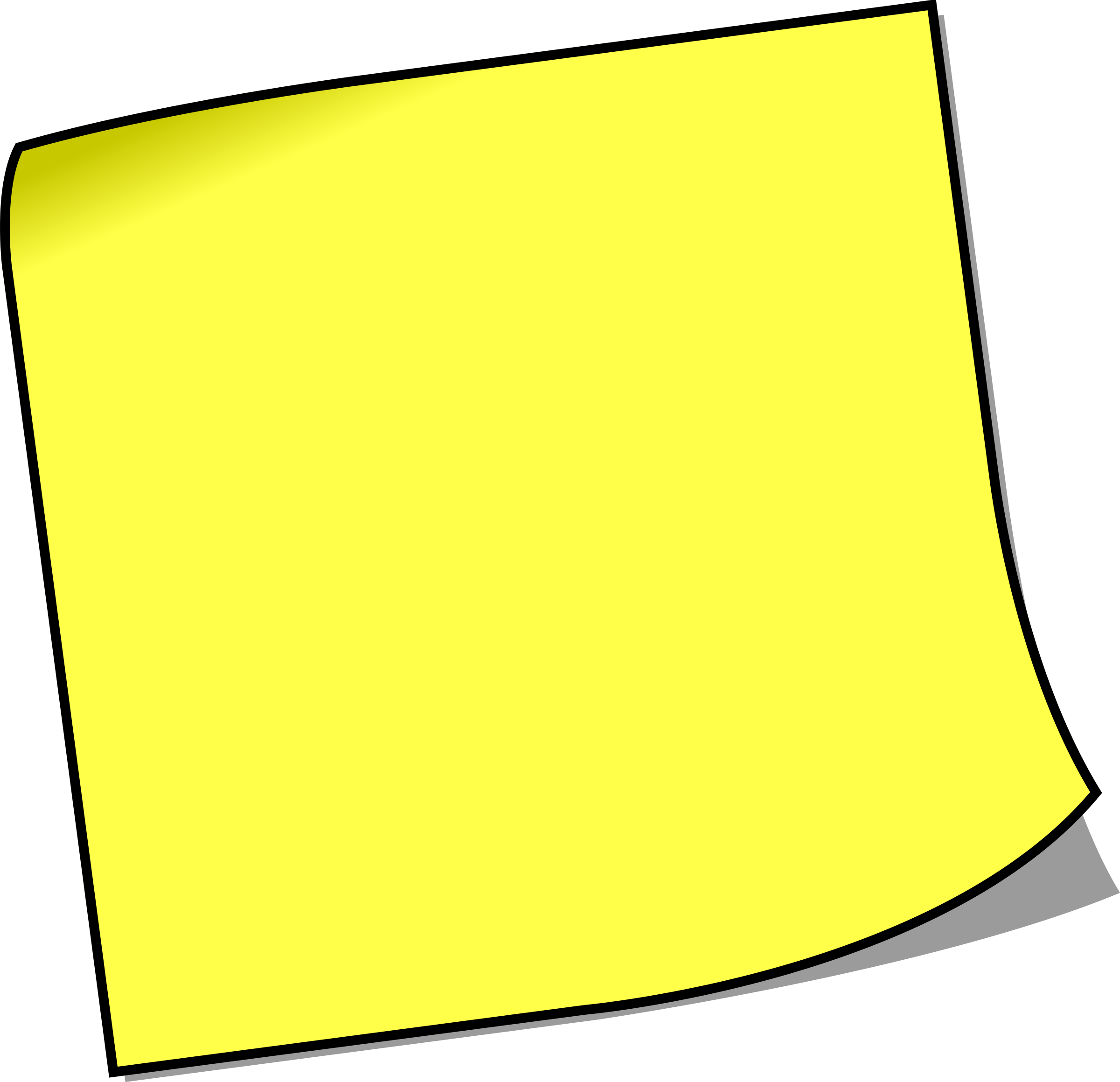 Free microsoft cliparts download. Paper clipart sticky note