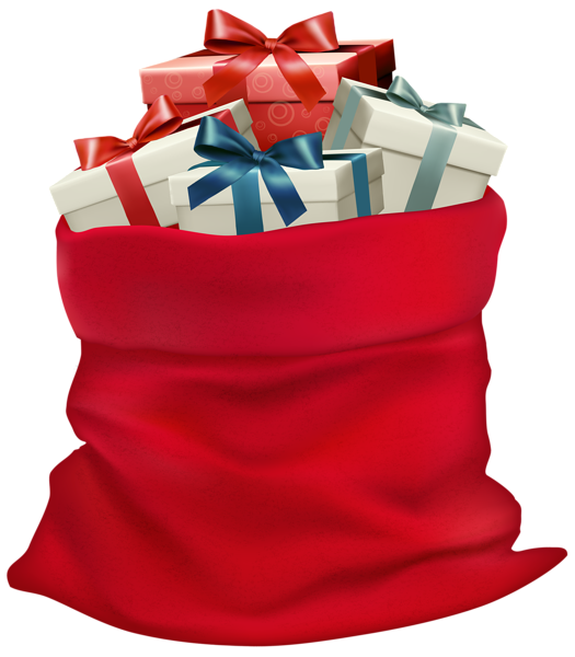 Christmas sack with gifts. Gift clipart gift bag