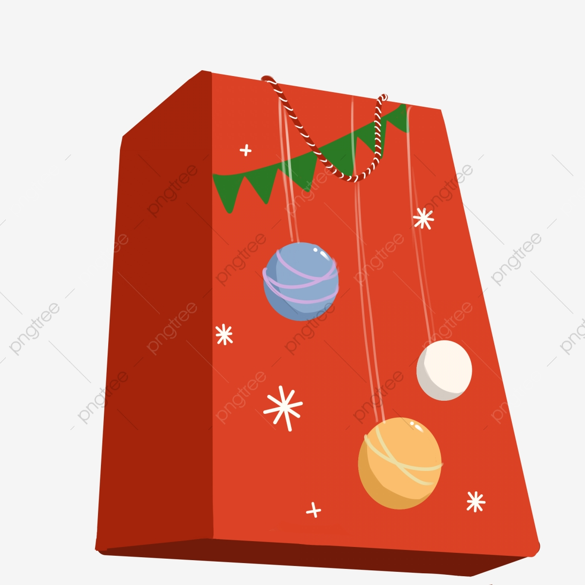 Hand drawn presents red. Clipart present christmas gift bag