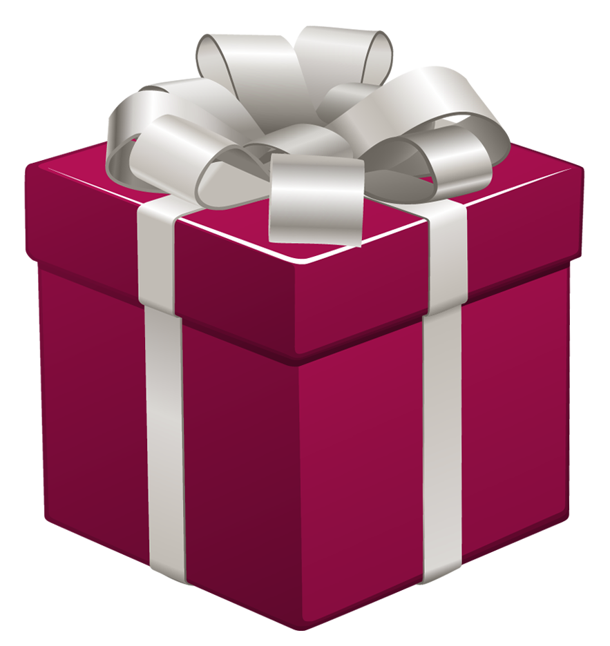 Purple clipart present.  collection of presents