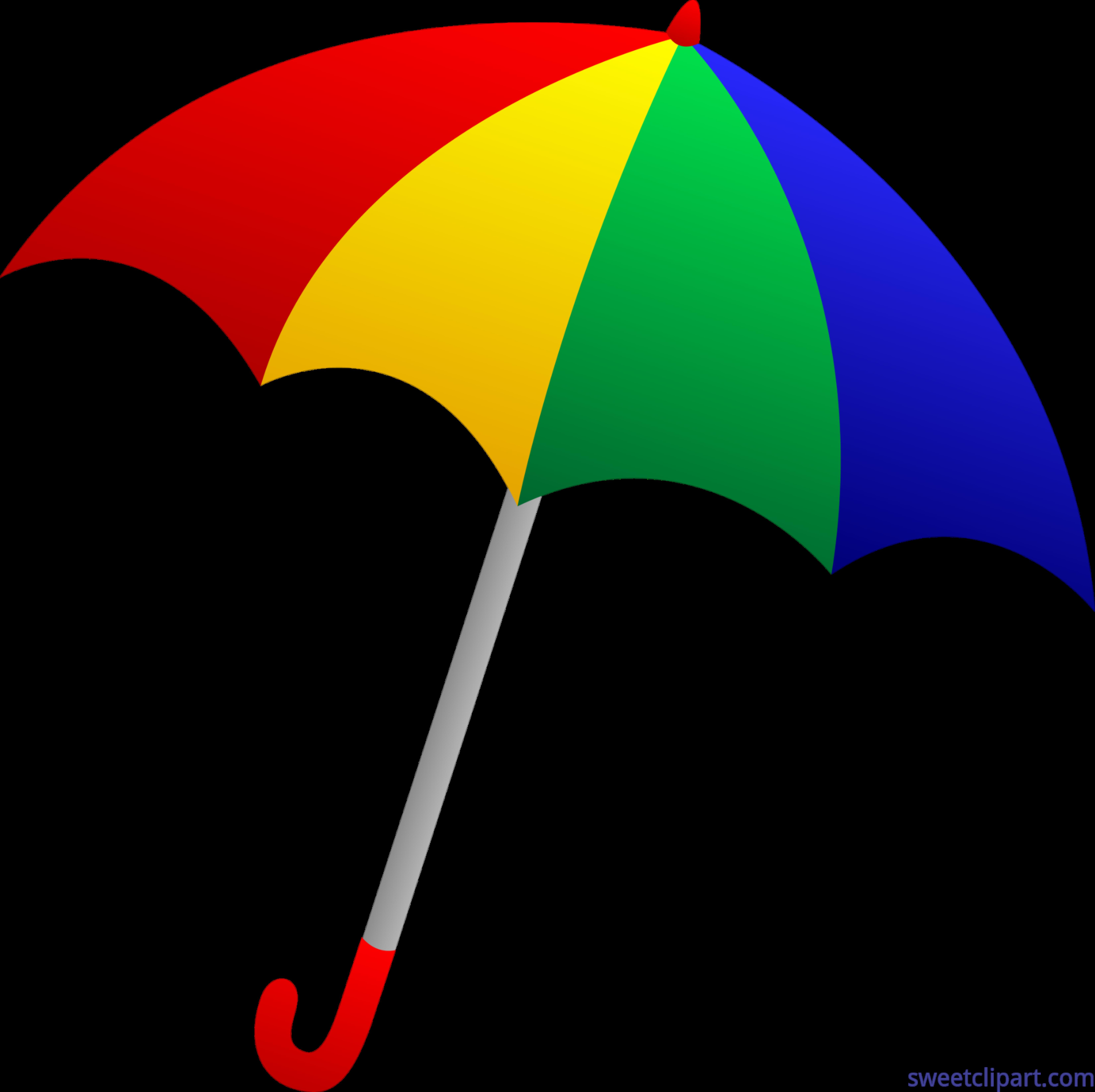 Colorful tilted clip art. Clipart umbrella drink