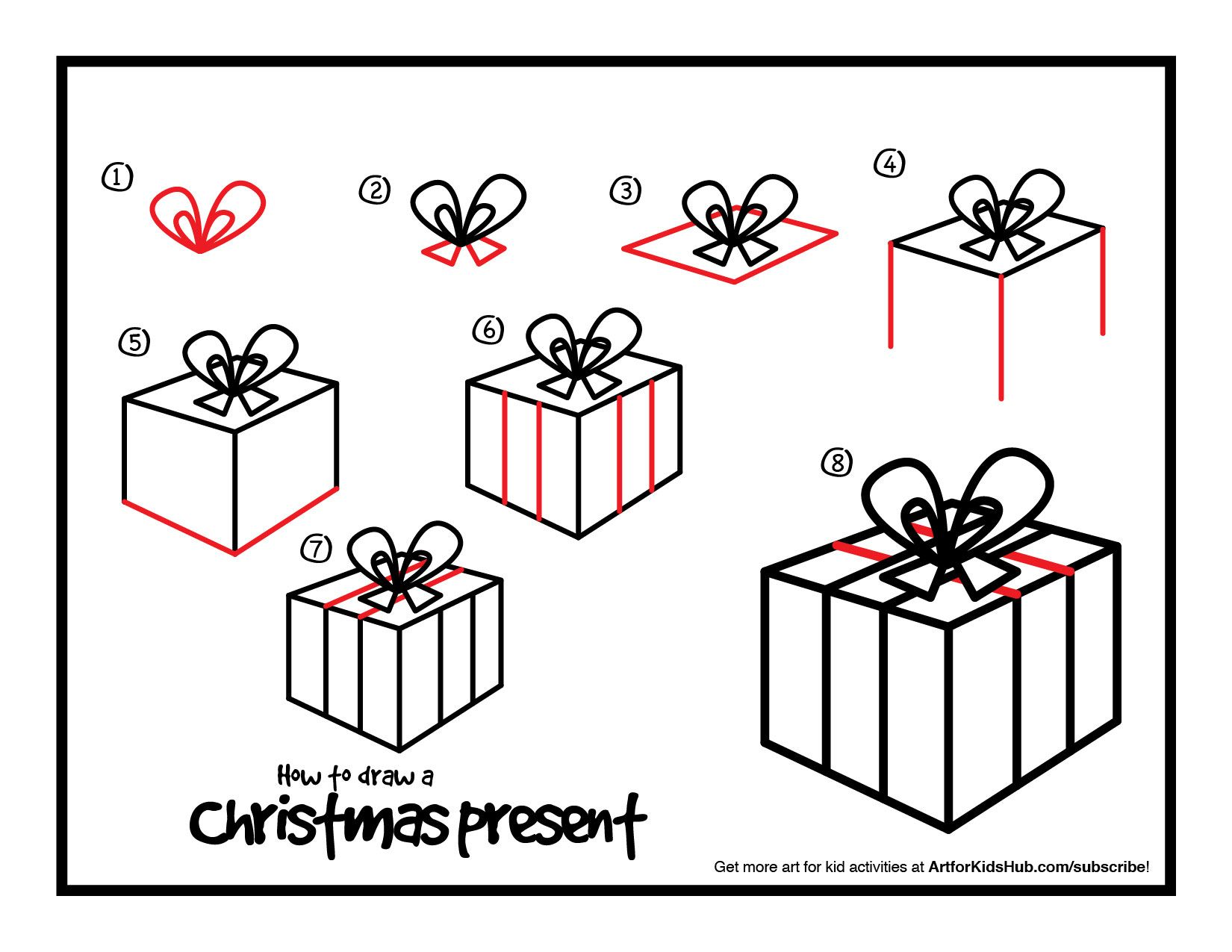Pin on christmas worksheets. Clipart present easy