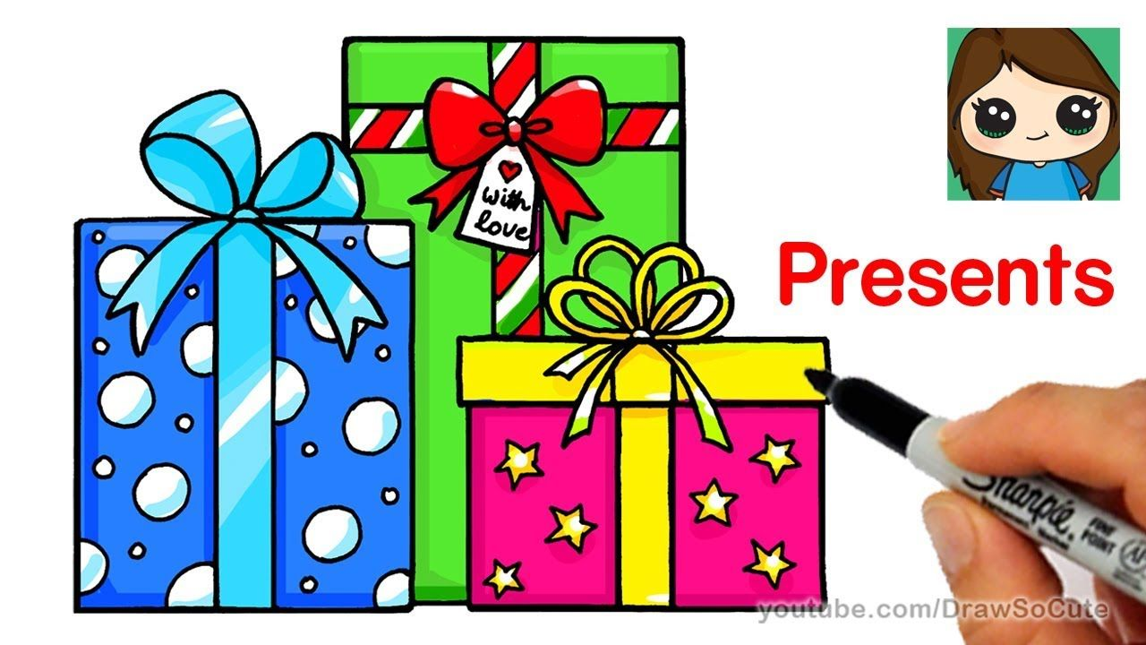 Clipart present easy. How to draw presents