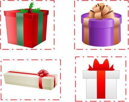 Clipart present easy. Vector gift clip art
