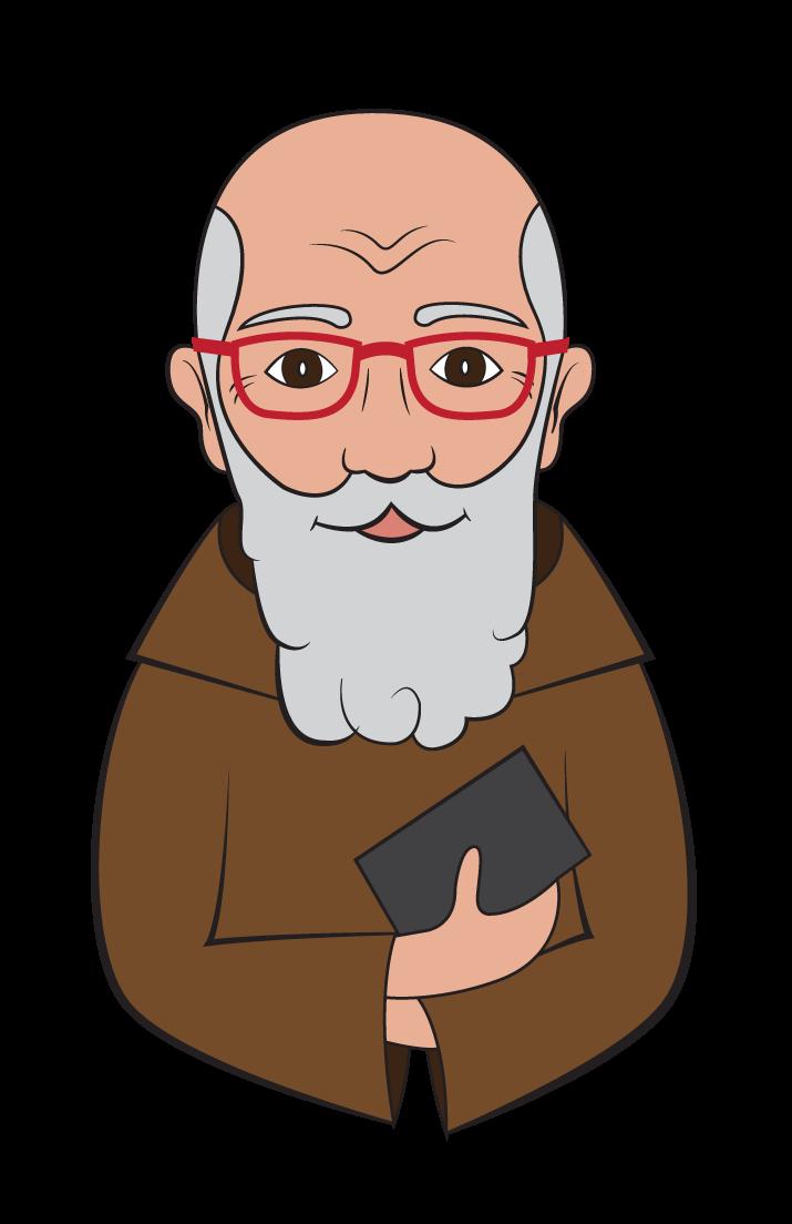 Father clipart bust. Solanus casey emoji center