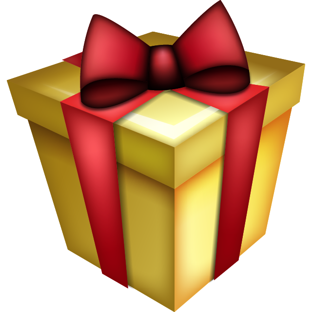 Emoji clipart present. Download gift gh p