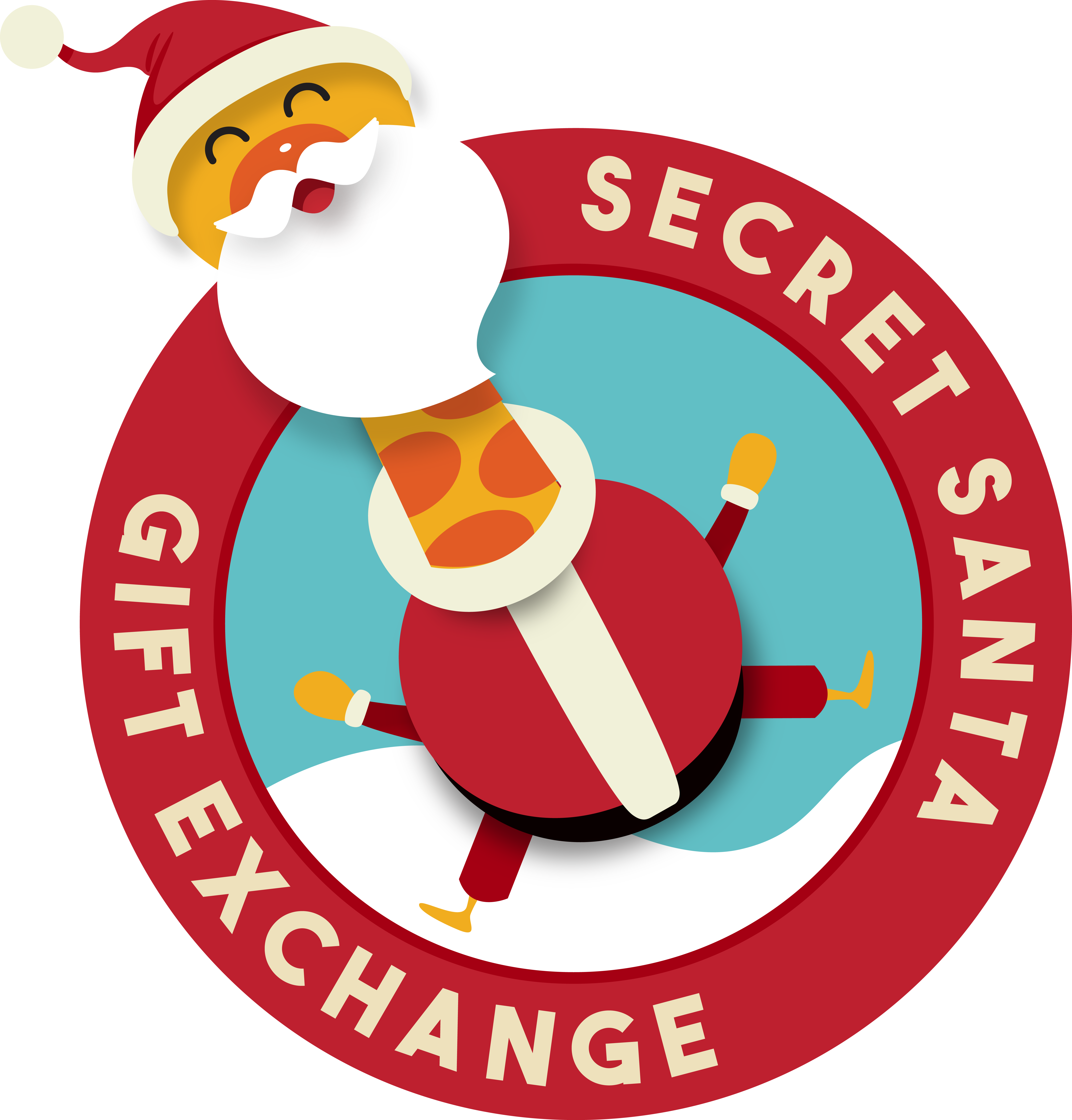 Secret santa who didn. Clipart present gift exchange