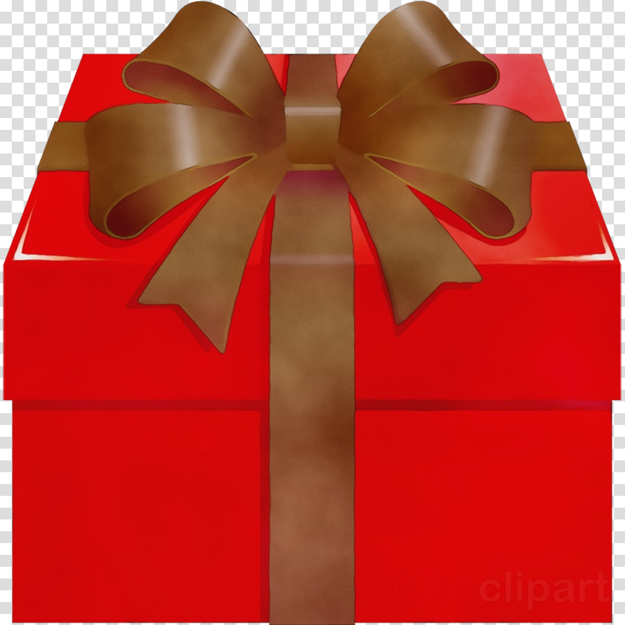 Red wrapping ribbon material. Clipart present gift wrap