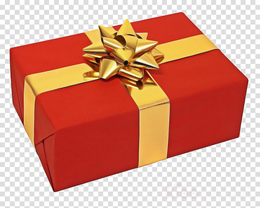 Wrapping red ribbon box. Clipart present gift wrap